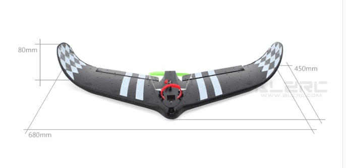 ALRZC - All-In-One Fixed Wing HUNTER EPP 680mm Wingspan Flying Wing RC Airplane/ Fixed Wing Aircraft 9107 epp foam fixed wing 4 ch radio control r c aircraft orange black