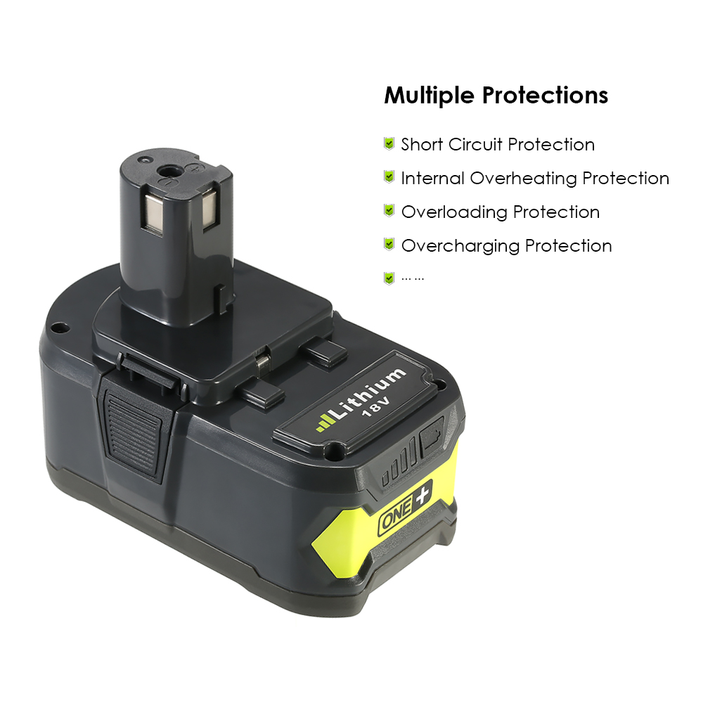 Meterk 18V 4.0Ah Lithium Replacement Battery Power Tools Battery High Capacity Rechargeable replacement battery Pack for Ryobi