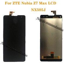 """5.5 """"ekran için ZTE Nubia Z7 Max NX505J tam LCD + dokunmatik ekran digitizer bileşenleri en kaliteli onarım parçaları + araçları"""