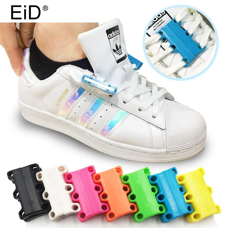 EID Magnetic Shoelaces Buckle No Tie Laces For Sneaker Casual Shoes Lazy Lace Strong Quick Lacet Closure Shoelace Shoestring