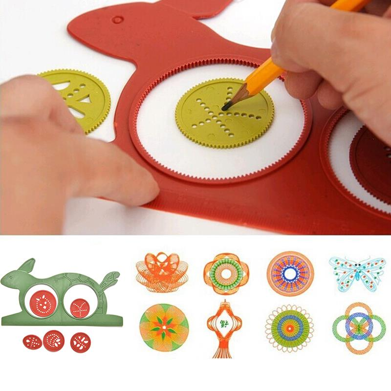 Creative Gift Spirograph Geometric Ruler Drafting Tools Stationery For Students Drawing Toys Set Learning Art Sets For Children