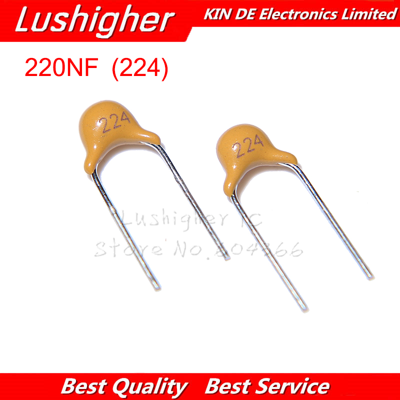 100PCS 220NF MLCC 0.22UF 20% 5.08MM 224 50V MLCC Multilayer Monolithic Ceramic Capacitor 0805
