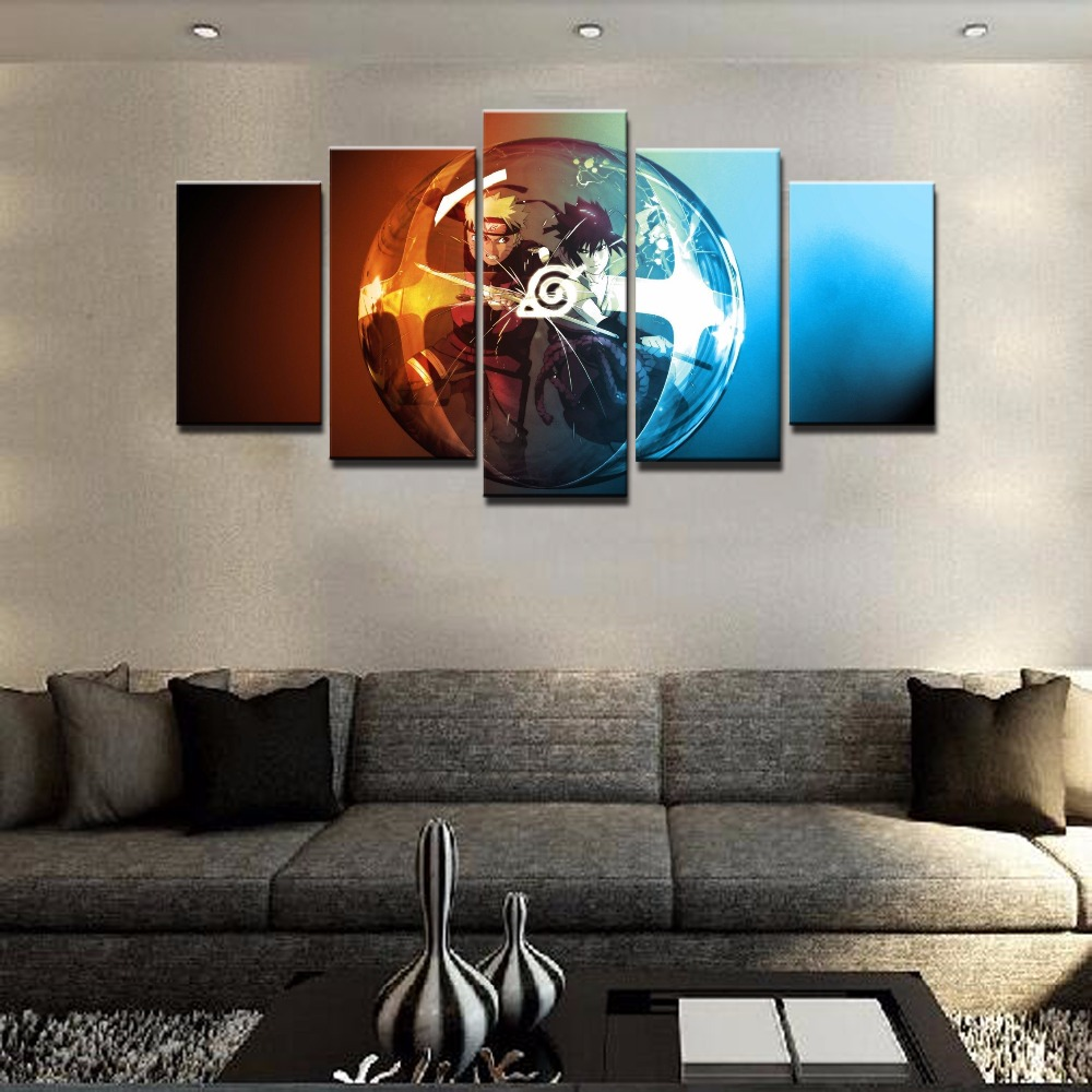 Popular Naruto PaintingsBuy Cheap Naruto Paintings Lots From - Wall decor canvas