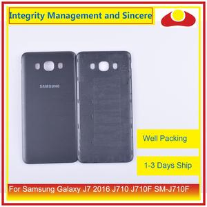 Image 5 - מקורי עבור Samsung Galaxy J7 2016 J710 SM J710F J710M J710H J710FN שיכון סוללה דלת אחורי כיסוי אחורי מקרה מארז פגז