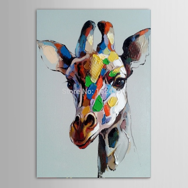 Free Shipping Hot Hand Painted Abstract Animals Oil