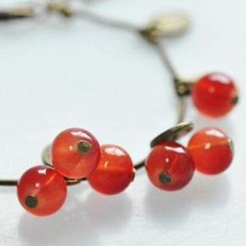 2020 HOT Sale 220mm+50mm bangles jewelry store vintage sweet cherry crystal bracelets Cheap Price Wholesale 2