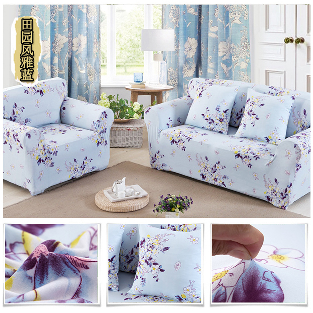 Bank Design Stof.Red Wine Color Sofa Cover Printing Cross Stretch Love Seat Couch