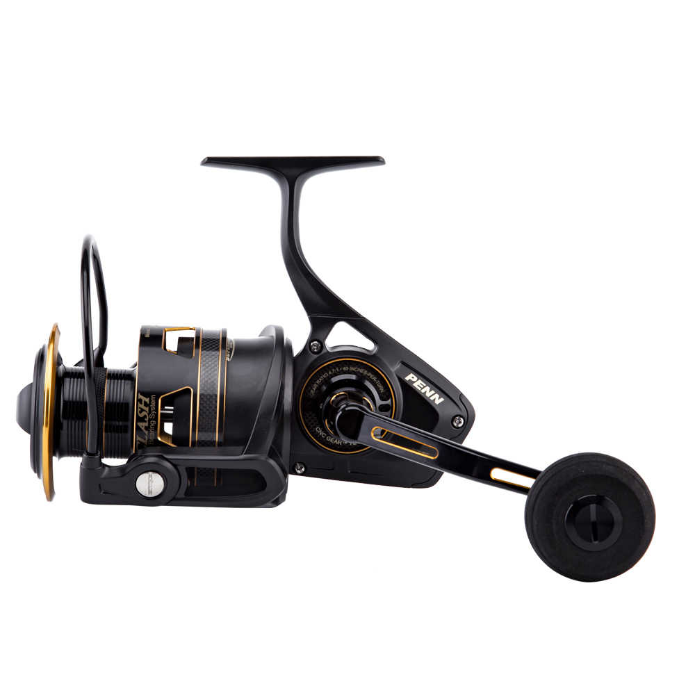 PENN CLASH 3000-8000 8+1 Ball Bearing Spinning Fishing Reel HT-100 Carbon Fiber Max Drag CNC Gear Fishing Reel for Sea with Box