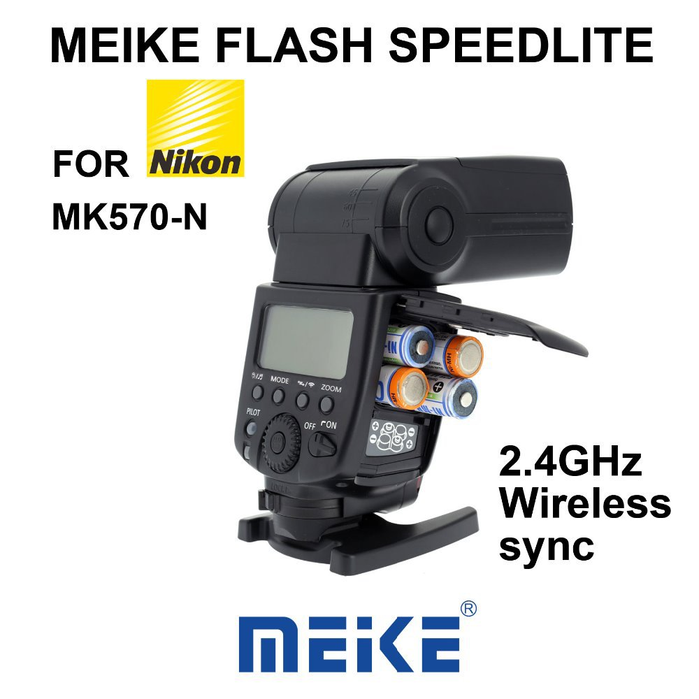 MEKE Meike MK-570 2.4Ghz Wireless sync Flash Speedlite for Nikon D7100 D7000 D5100 D5000 D3100 D3200 D300 D200 D4 D600 SB-910 meke meike mk 900 ttl camera flash speedlite for nikon sb 900 d7100 d7000 d5100 d5200 d5000 d800 d600 d90 d80 diffuser
