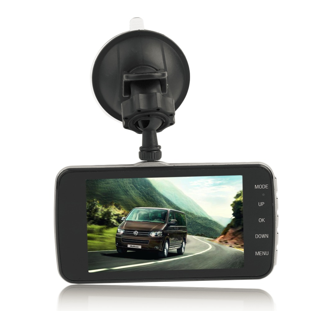 Dual Lens Camera Car DVR Auto Video Recorder G-Sensor Night Vision 170 Degree Dash Cam S9000 Full Program 4 Inch HD 1080P