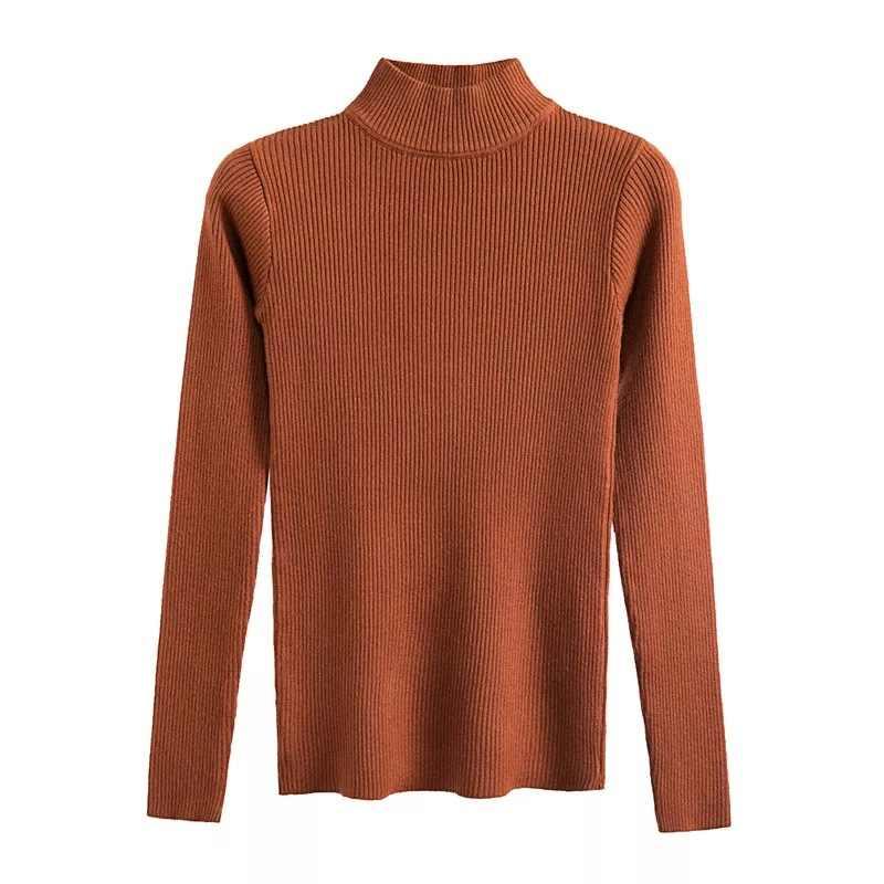 Женский тонкий свитер с высоким воротом, красный, бежевый, хаки, кофейный, зеленый, серый, черный, коричневый