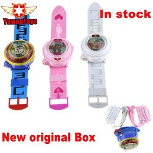 Hot Sales Japanese Anime Yokai Watch DX Yo-Kai Wrist Watch Lighting sound Kids Toy With 3 Medals Cosplay Kids Christmas Gift(China)