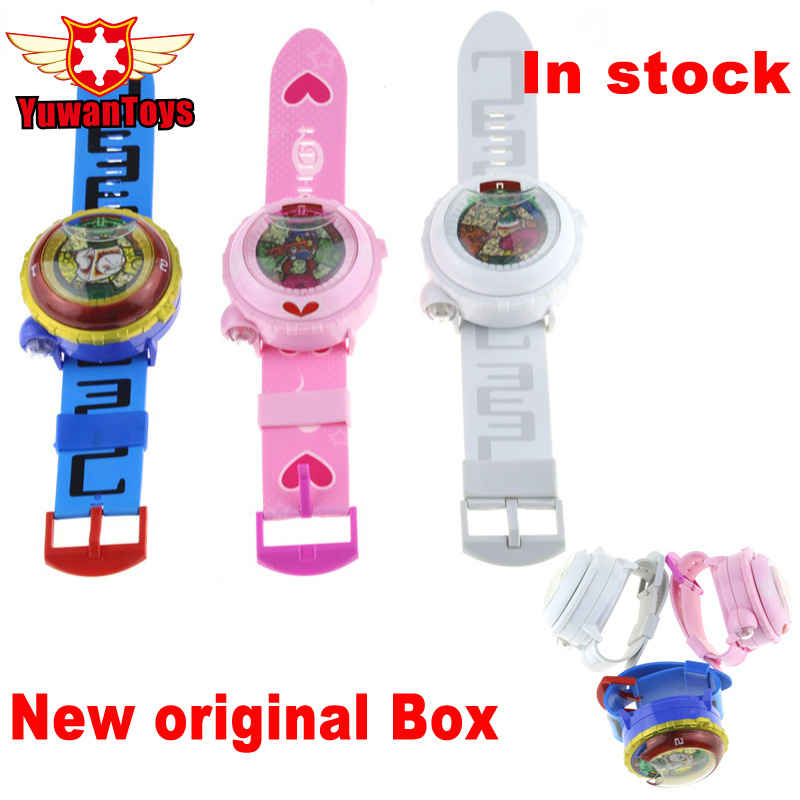 Hot Sales Japanese Anime Yokai Watch <font><b>DX</b></font> Yo-Kai Wrist Watch Lighting sound Kids <font><b>Toy</b></font> With 3 Medals Cosplay Kids Christmas Gift image