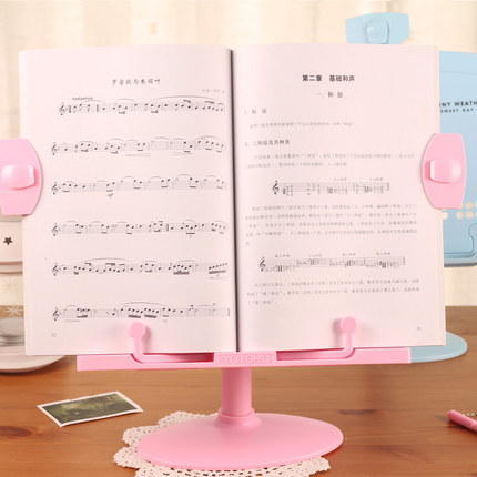 Cartoon Cute Book Holder For Reading Book Stand Plastic Adjustable Student Reading Support Desk Music Stand Document Holder cute marshmallow style silicone back case for iphone 5 5s yellow white