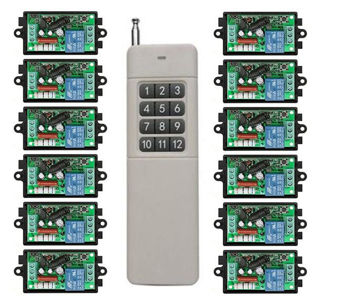 Беспроводной пульт дистанционного управления, светильник/лампа/окна/Гаражные Двери, проекционный экран, 3000 м, AC220V 1CH RF