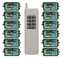 3000M longue portée AC220V 1CH RF télécommande sans fil relais interrupteur lumière/lampe/fenêtre/portes de Garage volets écran de projection