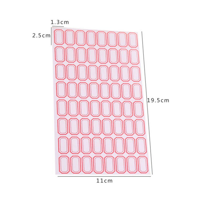 Купить с кэшбэком 5pc/lots Simple Style Paper Self-adhesive Label Sticker Product Classification Stationery Stickers Price Tag Sticky Note