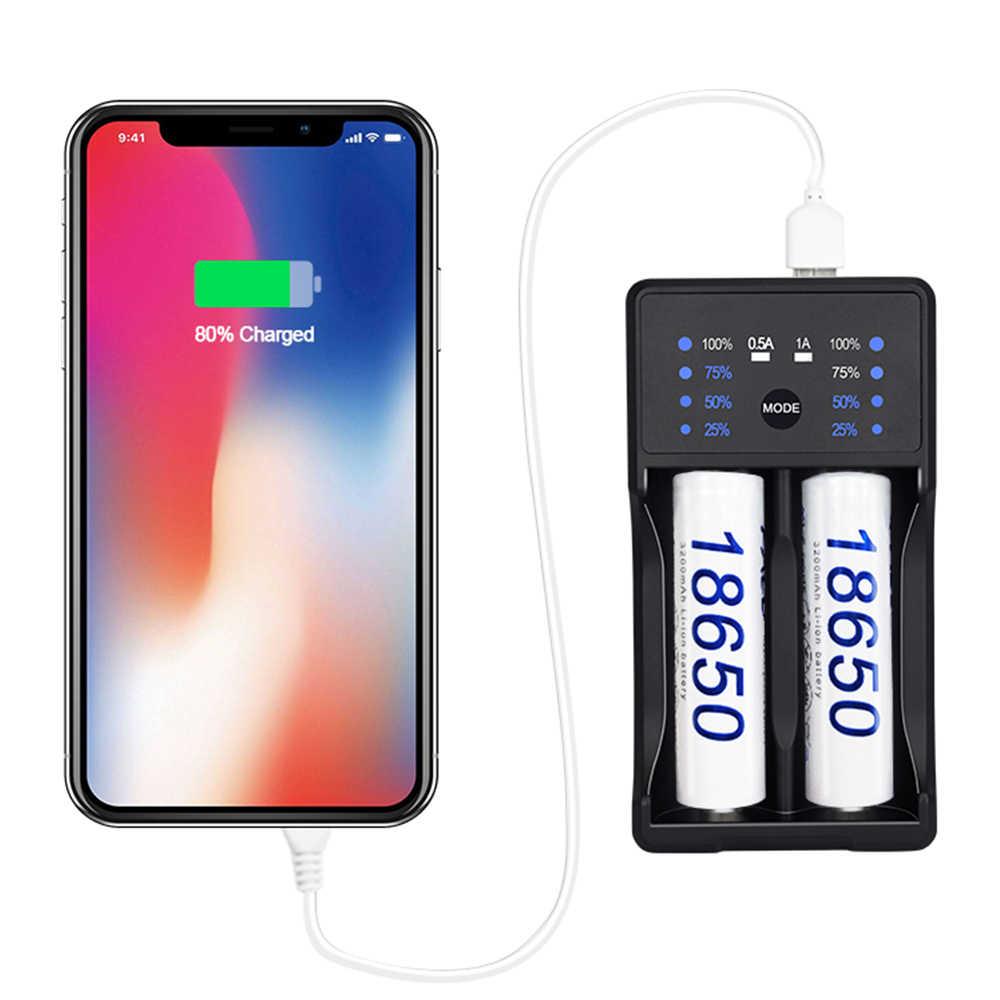 パロ USB LED 表示バッテリーニッケル水素ニカド AA AAA SC 3.7 V リチウムイオン電池 + 2 個 2350 mah の 18650 充電式電池