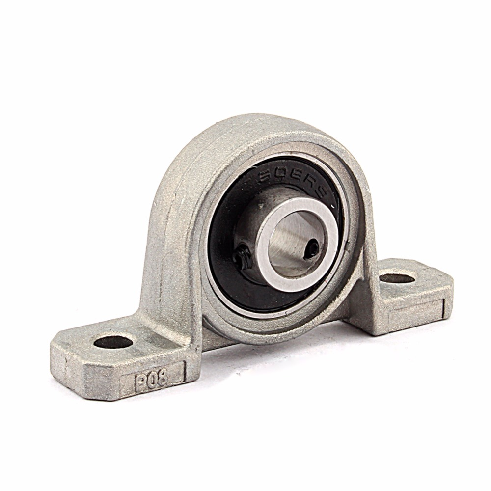 1Pc 8mm KP08 Bearing Insert Bearing Shaft Support Spherical Roller Zinc Alloy Mounted Bearings Pillow Block Housing 2pcs precision kp001 bearing shaft 12mm diameter zinc alloy pillow block mounted support ball bearings housing roller mayitr