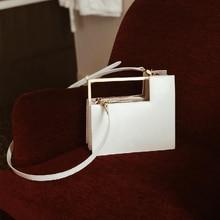 موضة صندوق مقبض معدني نوع حقائب النساء تصميم الجهاز بولي Women المرأة حقائب كتف فاخرة رسول حقيبة كروسبودي السيدات حقائب اليد