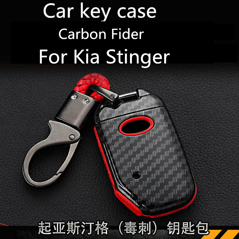 Buy For Kia Stinger key case Stinger special key shell Carbon Fider appearance modification for only 29 USD