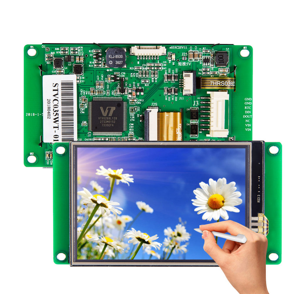 3.5 inch intelligent TFT LCD display module touch screen panel for embedded system
