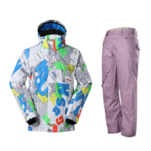 Gsou Snow New Arrival Winter men's Snowboard Jacket outdoor Warmth Waterproof Windproof skiing Coat And Pants Ski Suits Skiwear
