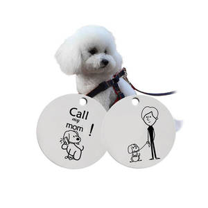 kefeng jewelry Stainless Steel Round Pendant Tags For Dogs