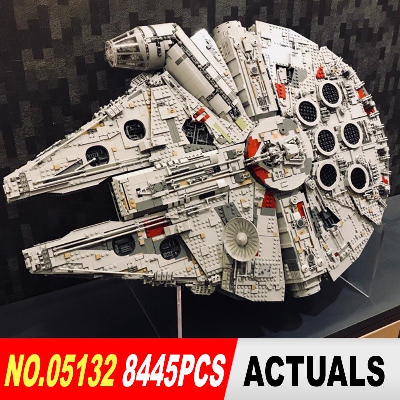Lepin 05132 Star destructor del Halcón del milenio LegoINGs 75192 ladrillos modelo bloques de construcción juguetes educativos WARS