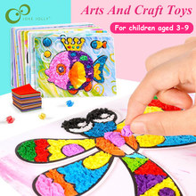 3Pcs DIY Cartoon Crafts Toys For Children Felt Paper Handicraft Kindergarten Material Funny Arts And Craft Gift for Boy Girl GYH(China)