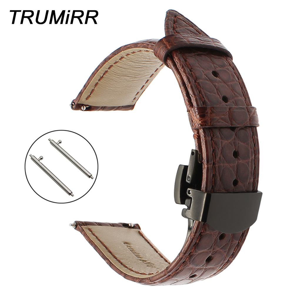 Genuine Alligator Leather Watchband for Fossil Q Tailor Gazer Founder Wander Crewmaster Grant Marshal Watch Band Croco Strap wander