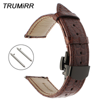 Genuine Alligator Leather Watchband for Fossil Q Tailor Gazer Founder Wander Crewmaster Grant Marshal Watch Band Croco Strap