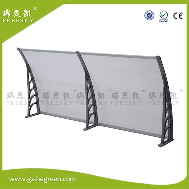 YP100120 100x120cm 100x240cm 100x360cm Overhead Gray Awning Door Window  Canopy Modern Polycarbonate