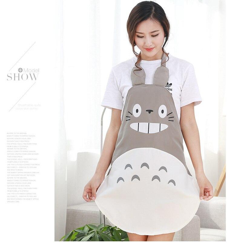 1 Pcs Schort; Verpleging Mouwen/lot Antifouling Leuke Totoro Waterdichte Doek Mode Favoriete Voor Mama Koken Olie-proof