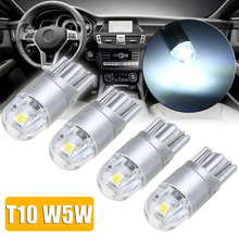 4pcs/set T10 W5W 168 2LED Car Interior Reading Light Lamp White 6500K 12V Dashboard Lights
