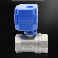 """DN20 3/4"""" stainless steel Two Way motorized ball valve DC5V 12V 24V AC220V electric water valve 3/4"""" CR01 CR02 CR03 CR04"""