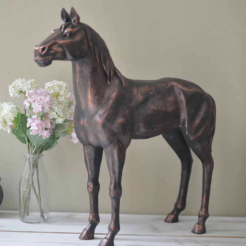 Terracotta Accessories Living Room Part - 29: Terracotta Horse Ornaments Home Accessories Do The Old Retro Pregnant  Nordic European Style Resin Living Room