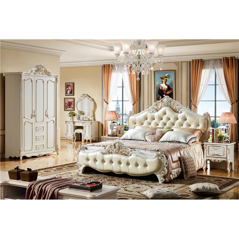 US $792.0 |Foshan luxury royal master bed room furniture bedroom set-in  Bedroom Sets from Furniture on AliExpress