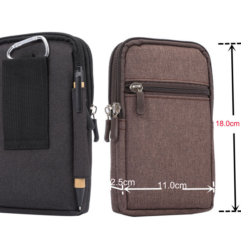 Cowboy Cloth Phone Pouch Belt Clip Bag for Samsung S7 S6 Edge S5 S4 S3 Note3 4 5 with Pen Holder Waist Bag for Xiaomi Redmi 3 3s
