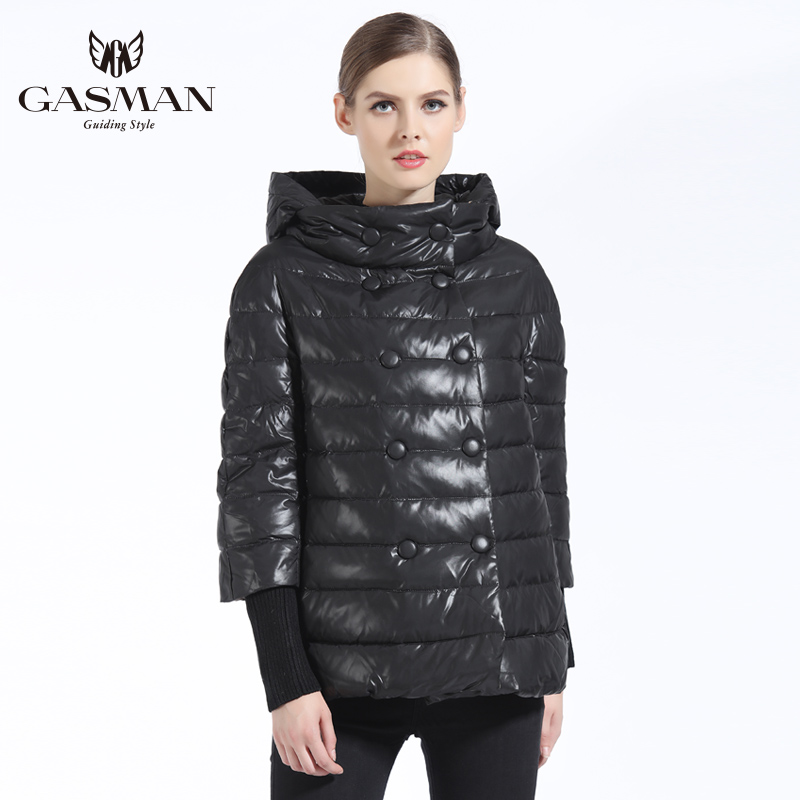 GASMAN Women Coat Autumn New 2018 Girs Down Jacket Fashion Windproof Jackets Hooded Overcoat For Women