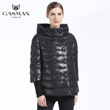 GASMAN Women Coat Autumn New 2018 Girs Down Jacket Fashion Windproof Jackets Hooded Overcoat For And Parka Short