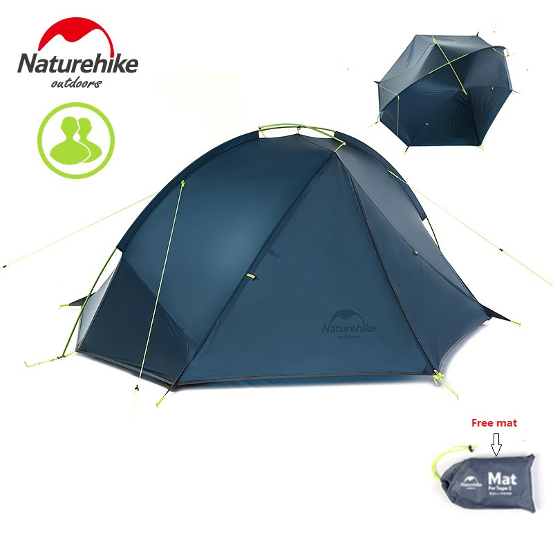FREE MAT Naturehike factory ultralight Taga tent 1 person/2 person outdoor camping hiking 3 Season Double Layer Windproof Tent naturehike factory sell 2 person tent double layer camping tent outdoor tent dhl free shipping