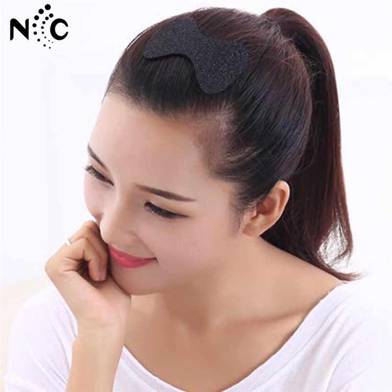 6Pcs/4Pcs Women Girls Flower Bangs Fixed Seamless Magic Paste Posts Bow Heart Hair Sticker Clip Tape Fringe Hair Bang Patch