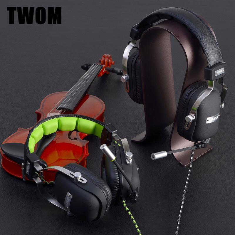 TWOM Headband Computer Gaming Headset with HD Microphone for PC Stereo Big Headphones Bass Universal Wired Subwoofer Earphones high quality gaming headset with microphone stereo super bass headphones for gamer pc computer over head cool wire headphone