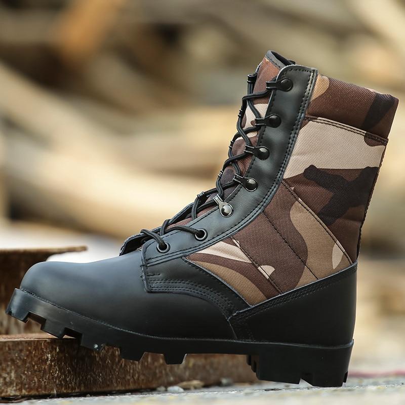 Imperméable à l'eau chasse pêche Camouflage marche portable confortable bottes noires militaire tactique en plein air escalade chaussures