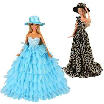 Fashion Handmade 2 items /lot Doll accessories Kids Toys Wedding party dresses For Barbie Dressing Game DIY Birthday Present 7colors new metal ball pens 50pcs a lot for sale customized gift items for birthday party