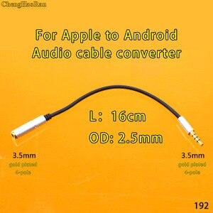ChengHaoRan OMTP CTIA Conversor 4 pólo macho para fêmea Jack de 3.5mm cabo de Áudio para A Apple android smart phones Tablets fone de ouvido carro
