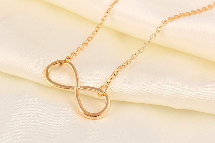 Gold and Silver Color Infinity Shape Necklace