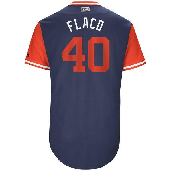 MLB мужская Лос-Анджелес Ангелы Джесси Чавес Флако Бейсбол Темно-2017 Игроков Выходные Подлинный Джерси