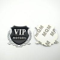 diy car 2pcs/Lot 3D VIP MOTORS Logo Metal Car Chrome Emblem Badge Decal Door Window Body Auto Decor DIY Sticker Car Decoration Styling (5)